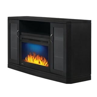 Napoleon Crawford Electric Fireplace TV Stand in Black with Remote Control