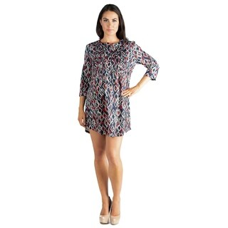24/7 Comfort Apparel Babydoll Maternity Tunic Dress