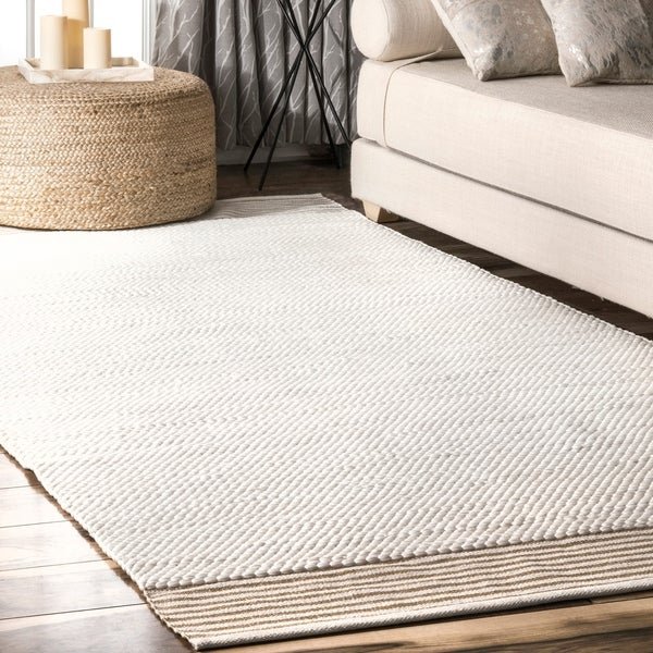 The Curated Nomad Tonquin Ivory Handmade Casual Solid Area Rug