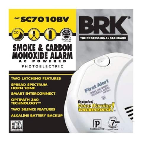 First Alert Hard-Wired with Battery Back-up Electrochemical/Photoelectric Smoke and Carbon Monoxide Alarm