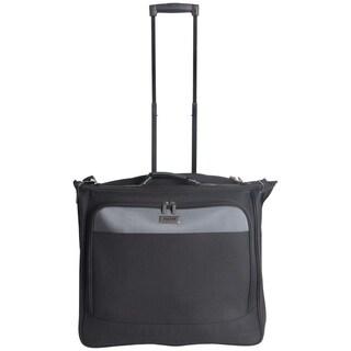 "Kenneth Cole Reaction 42"" Lightweight Polyester 2-Wheeled Multi-Pocket Garment Bag With Removable Shoulder Strap"