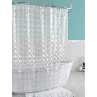 "Splash Home Carrele PEVA Shower Curtain, 70"" x 72"" Inches, Clear"