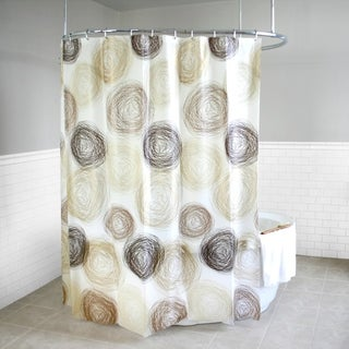 "Splash Home Coil PEVA Shower Curtain With 12 Metal hooks, 72"" x 70"", Hazel"