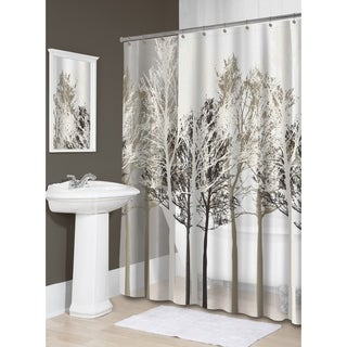 "Splash Home Forest PEVA Shower Curtain, 72"" x 70"", Beige"