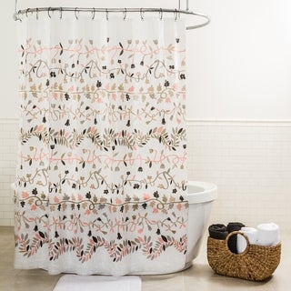 "Splash Home Ivy PEVA Shower Curtain, 72"" x 70"", Blush"