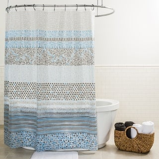 "Splash Home Spry PEVA Shower Curtain, 70"" x 70"" Inch, Blue"