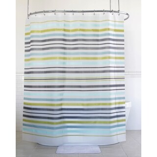 "Splash Home Soweto Fether PEVA Shower Curtain, 72"" x 70"", Sage"
