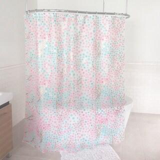 "Splash Home Windflower PEVA Shower Curtain, 72"" x 70, Blue"