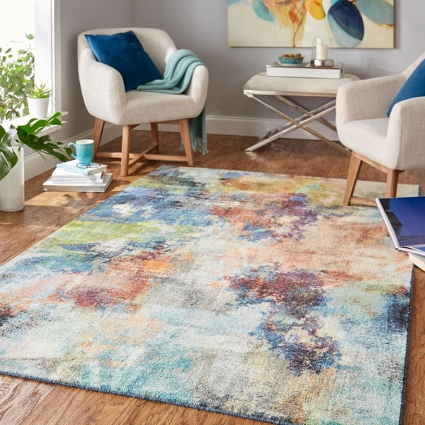 Mohawk Home Decollage Abstract Area Rug. Opens flyout.