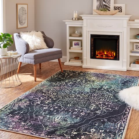 Mohawk Home Rowland Tribal Boho Abstract Medallion Area Rug
