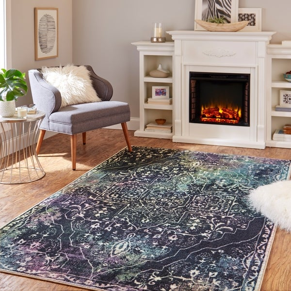 Mohawk Home Rowland Tribal Boho Abstract Medallion Area Rug. Opens flyout.