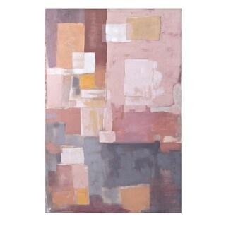 Multi-color Mid Century Cowboy Wall Art - Grey/Pink