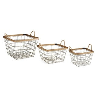 Trisha Yearwood Nightingale Silver Baskets (Set of 3)