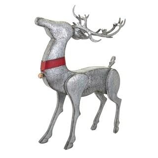 Homestead Grey Christmas Galvanized Standing Reindeer