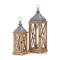 Trisha Yearwood Brown and Grey Nightingale Lanterns (Set of 2)