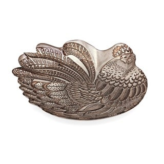 Rooster Grey Glass Charger