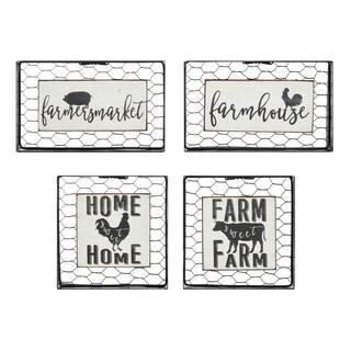 Farmhouse Black and White Wall Blocks (Set of 4)