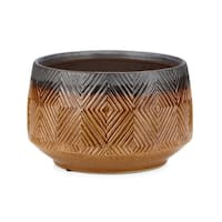 Creek Brown and Grey Large Ceramic Planter
