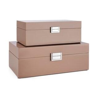 Cheyenne Pink Rectangular Boxes (Set of 2)