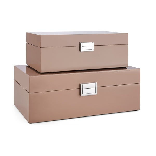 Cheyenne Pink Rectangular Boxes (Set of 2)