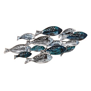 School of Fish Blue and Grey Wall Decor
