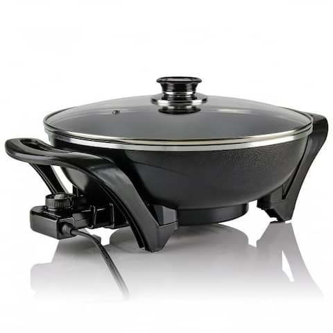 Ovente SK3113B Electric Skillet Frying Pan 13 Inches