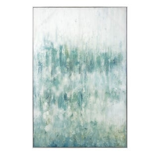 Vada Grey Framed Oil Painting on Canvas - Green