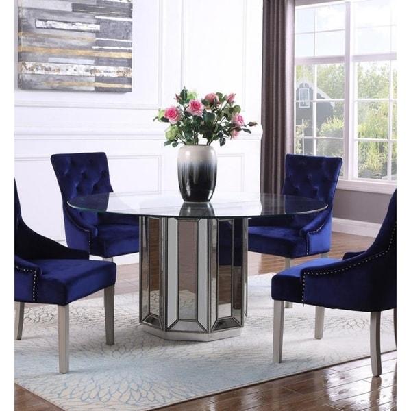Shop Best Master Furniture Silvertone Wood/Glass Mirrored ...