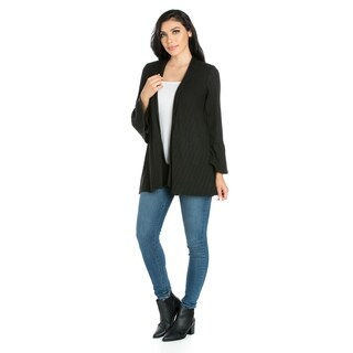 24/7 Comfort Apparel Bell Sleeve Maternity Cardigan