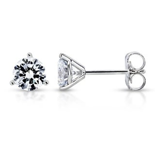 Annello by Kobelli 14k Gold 1ct TDW Round Lab Grown Diamond Stud Earrings (IGI Certified, EF/VS1-VS2)