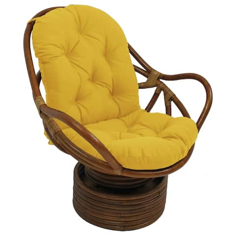 Blazing Needles 48-inch Swivel Rocker Cushion