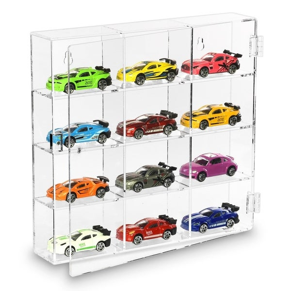 Ikee Design Mountable 12 Compartments Display Case Cabinet Stand