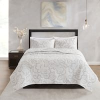 N Natori Kira 3 Piece Cotton Coverlet Set 2-Color Option