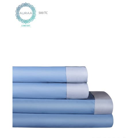 AURAA Comfort 500 TC Long Staple Cotton Reversible, Soft Sheet Set