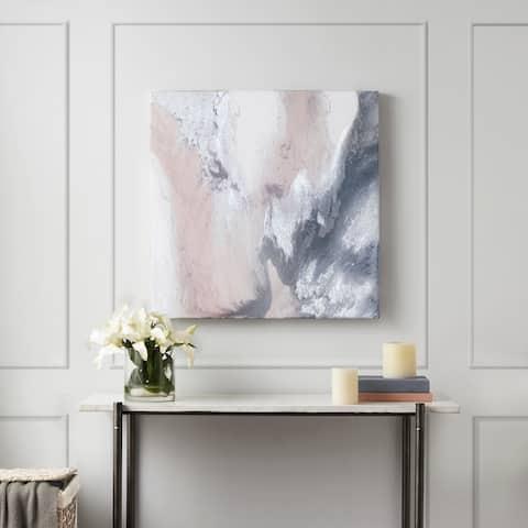 Madison Park Blissful Blush Gel Coat Canvas with Silver Foil Embellishment