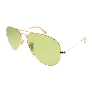 Ray-Ban Aviator RB 3025 Aviator Classic 90644C Unisex Gold Frame Green Photochromatic Evolve Lens Sunglasses