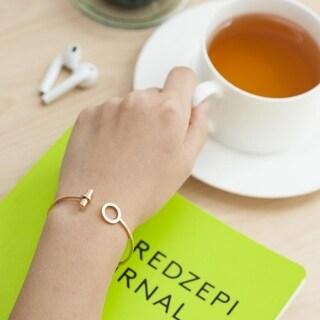 Zodaca Woman Rose Gold/Silver Shiny Adjustable Alloy Cuff Bangle Bracelet Fashion Jewelry (2 Colors)