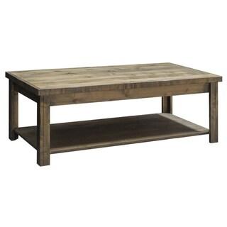 Carbon Loft Pendragon Barnwood Distressed Traditional Coffee Table