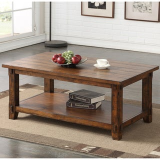Carbon Loft Ebersole Rustic Walnut Coffee Table
