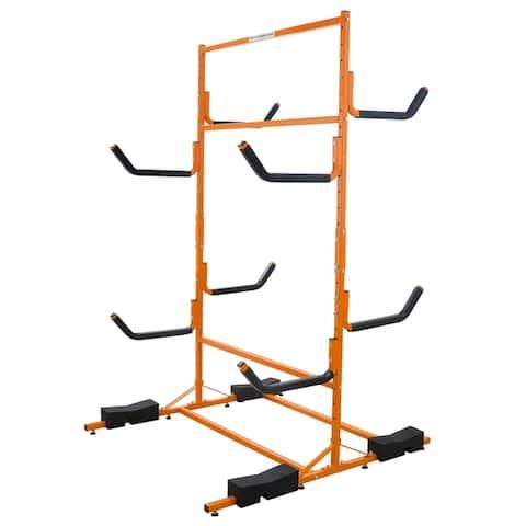 RAD Sportz Tall Stand Freestanding Heavy Duty Kayak Rack Two Kayak Storage