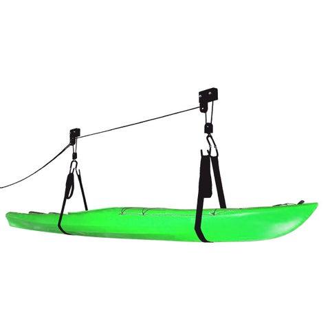 Kayak & Canoe Lift Hoist Kayak Garage / Canoe Hoists 125 lb Capacity Lifetime Warranty by RAD Sportz