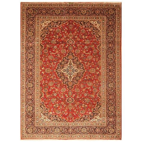 Handmade Kashan Wool Rug (Iran) - 8'2 x 11'1