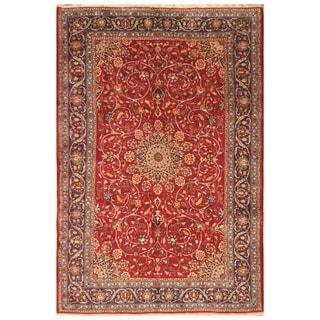 Handmade One-of-a-Kind Isfahan Wool Rug (Iran) - 6'8 x 10'