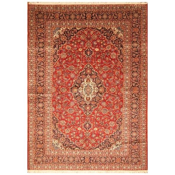 Handmade Kashan Wool Rug (Iran) - 8'8 x 12'