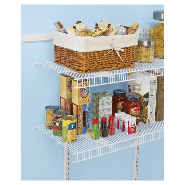 Rubbermaid Fasttrack Closet Pantry Organizer Kit Dandk
