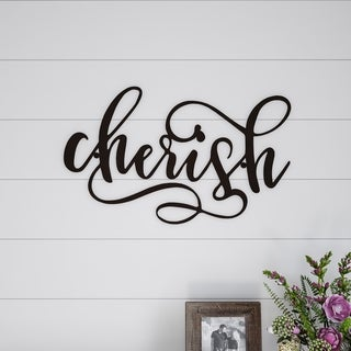 Metal Cutout- Cherish Decorative Wall Sign-3D Word Art Lavish Home