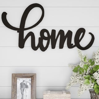 Metal Cutout- Home Decorative Wall Sign-3D Word Art Lavish Home