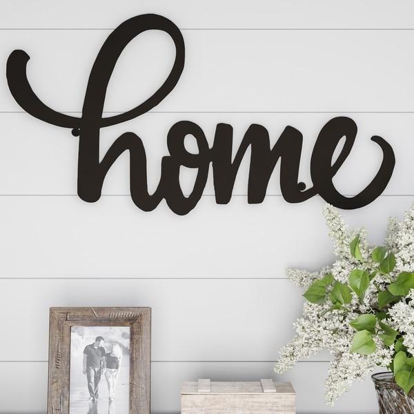 Metal Cutout- Home Decorative Wall Sign-3D Word Art Lavish Home