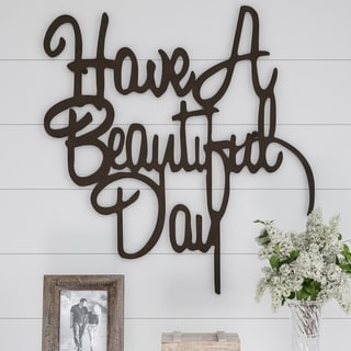 Metal Cutout-Have a Beautiful Day Decorative Wall Sign-3D Word Art Lavish Home