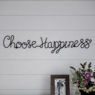 Metal Cutout- Choose Happiness Cursive Cutout Sign-3D Word Art Lavish Home